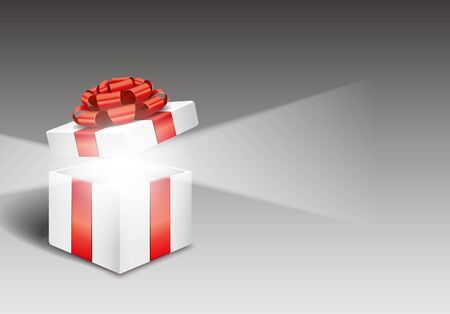 box open: Open gift box with bright light
