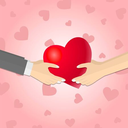 Hands giving a red heart