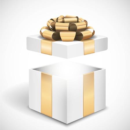 Vector caja de regalo abierto