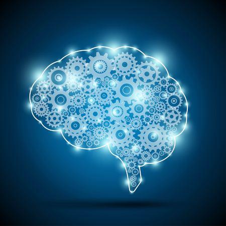 Brain of an artificial intelligence Illustration