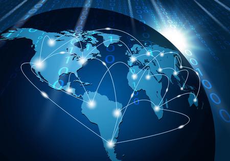 Fondo de la conexión a la red mundial