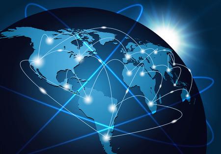 全球網絡連接背景