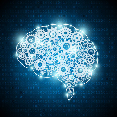 Artificial intelligence concept brain