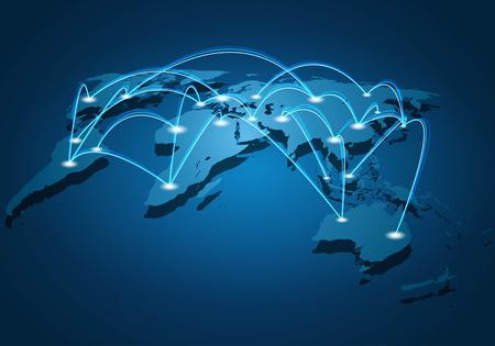 Connexion réseau mondial Banque d'images - 62887381