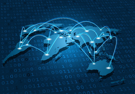 Global network connection Vectores