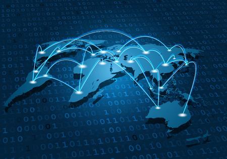 Connexion réseau mondial Banque d'images - 62887472