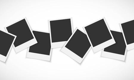 Pile di cornici su sfondo bianco Archivio Fotografico - 62886318
