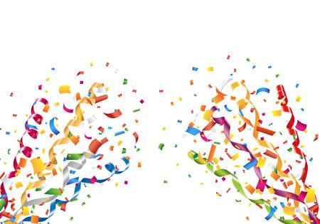 폭발적인 파티 색종이 및 깃발