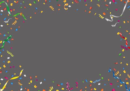 streamer: Confetti and streamer frame