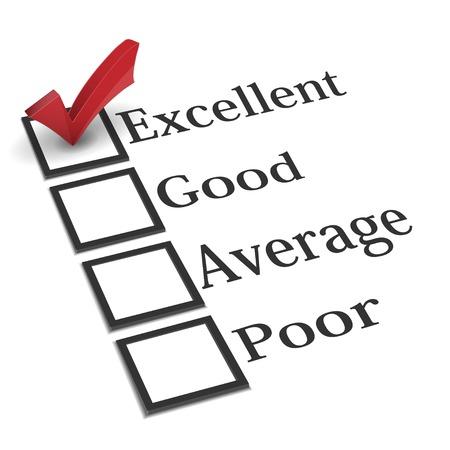 Evaluatie checklist met rode vinkje