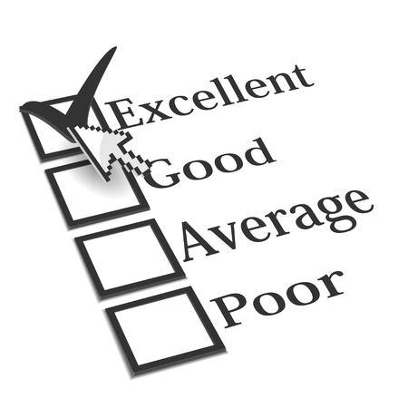 3D evaluation check list with cursor