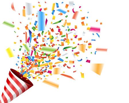 Ontploffende party popper met confetti