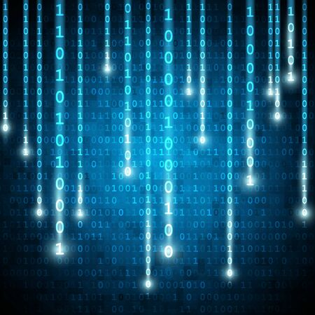 matrix style binary background with falling number Imagens - 67586043