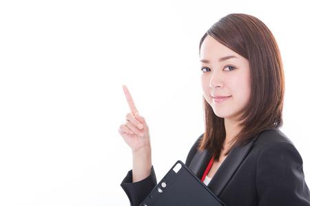 Business woman pointing Reklamní fotografie