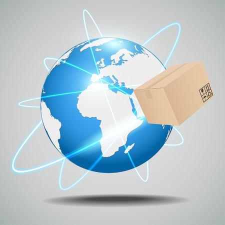 global logistics: Global logistics network Vector Illustration