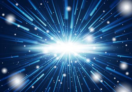 Space warp. Time travel concept. Vectores