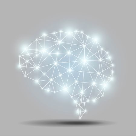 Glowing brain polygon