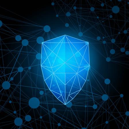 Escudo de protección poligonal abstracto