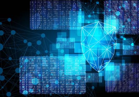 マトリックス画面でネットワーク セキュリティ シールド
