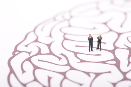 Businessman trapped in brain maze