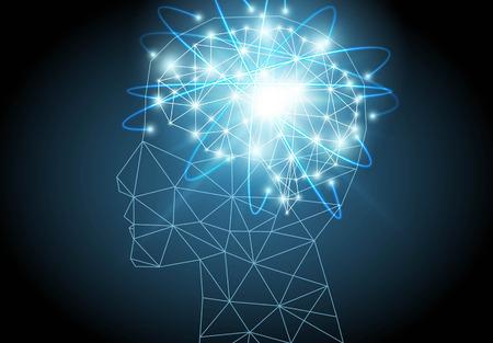 Artificial intelligence brain  vector illustration. Vettoriali