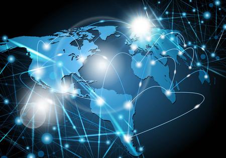 Global network background vector illustration. Stock Illustratie