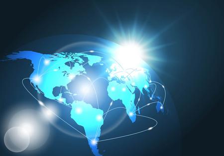 réseau mondial vecteur de fond