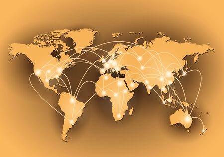 Global network connection Vector
