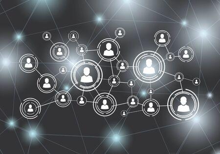 Social network background Vector Vettoriali