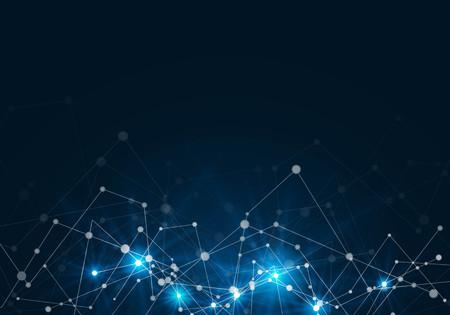 résumé de la technologie du réseau fond. concept de technologie
