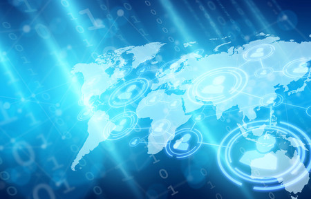 Social network and matrix style binary 免版税图像