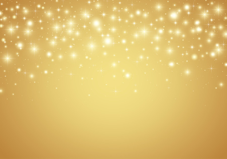 Vector gold shiny glitter particles background Illustration