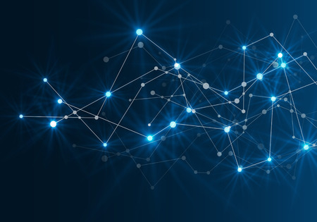 Abstract futuristic network. Vector illustration. Vettoriali