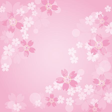 Pink sakura background