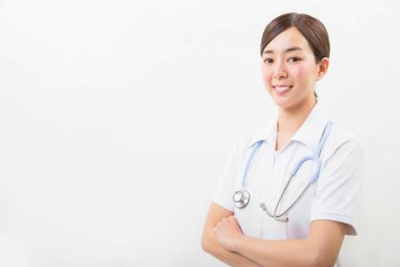 Portrait of a smiling young nurse Stock fotó