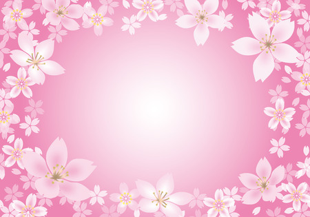 Sakura frame background
