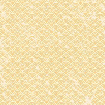 Japanese gold grunge wave pattern
