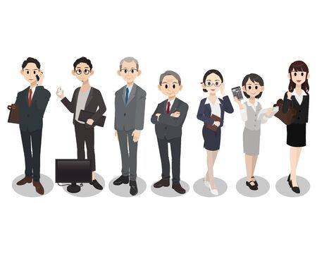 Business teamwork concepts. Group of business people character set.