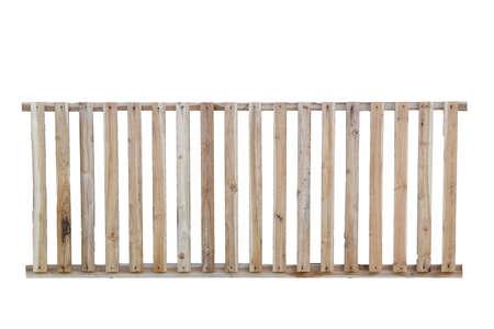 Wooden fence isolated on white background. Stock Photo