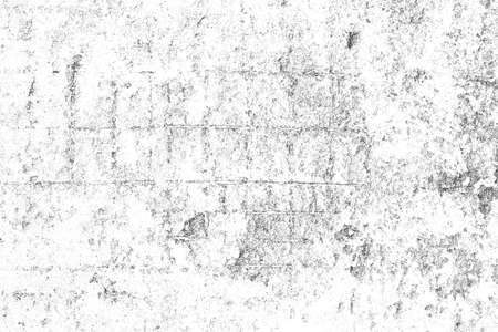 Grunge black and white background. Abstract monochrome particles texture. - Illustration