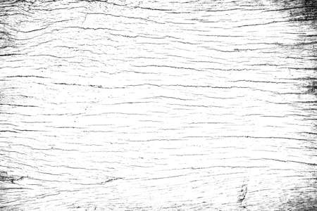 Black and white grunge wood texture. Abstract monochrome background pattern of noise and grain. Dark wooden wall.