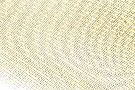 Elemento di design a pennellata d'oro in tessuto lavorato a maglia. Modello dorato di struttura della priorità bassa del tessuto di tessitura.