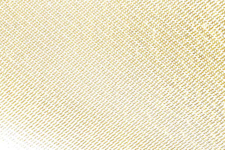 Paño de elemento de diseño de trazo de pincel dorado tejido. Patrón de textura dorada de tejido de fondo de tela.