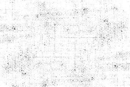 Distressed Overlay-Textur von Webstoff, Stoff gestrickt. Grunge schwarz-weiß abstrakten monochromen Hintergrund. Standard-Bild