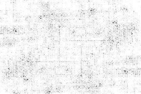 Distressed overlay texture of weaving fabric, cloth knitted. Grunge black and white abstract monochrome background. Foto de archivo