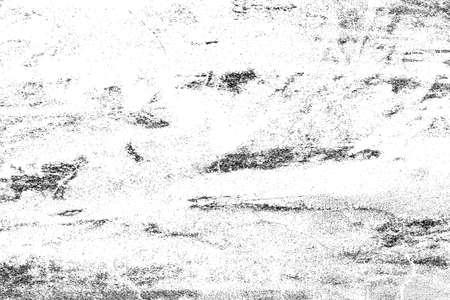 Schmutzschwarzweiss-Beschaffenheit. Dunkler unordentlicher Staub überlagert beunruhigten Hintergrund. Erstellen Sie abstraktes Design mit Punkten, Kratzern, Rauschen und Körnung. Standard-Bild