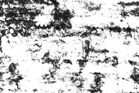Grunge background of black and white. Abstract texture pattern with ink spots, cracks, stains. for printing or design monochrome.