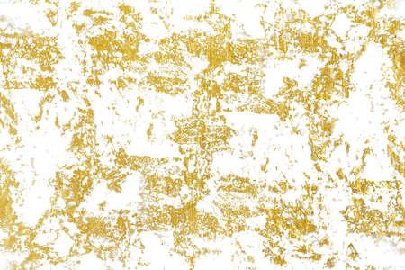 Gold splashes Texture. Brush stroke design element. Grunge golden background pattern of cracks, scuffs, chips, stains, ink spots, lines