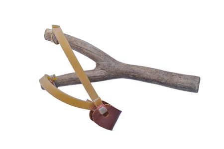 Slingshot isolated on white background Foto de archivo