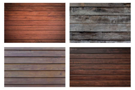 Set of different wooden texture isolated on white background. 写真素材